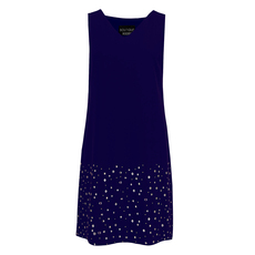 Boutique Moschino V Neck Stars Details Sleevelees Dress Purple