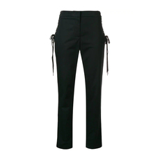 Moschino Lateral Drawstring Tailored Trousers Black