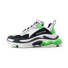 Balenciaga Triple S Oversized Multimaterial Women's Sneakers White/Green/Black