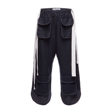Loewe Cropped Drawstring Pants Navy Blue