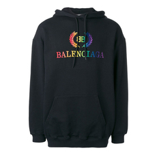 Balenciaga Bb Logo With Light Jersey Sweatshirt Black