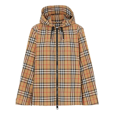 Burberry Vintage Check Lightweight Hooded Jacket Antique Yellow