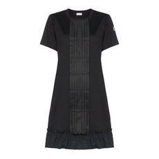 Moncler Felt Logo Jumper Dress Black