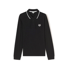 Kenzo Embroidery Mini Tiger Polo Tee Black