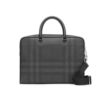 Burberry London Check Briefcases Dark Charcoal