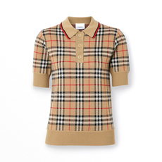 Burberry Vintage Check Polo Tee Archive Beige