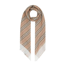 Burberry Icon Stripe And Vintage Check Scarf Archive Beige