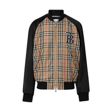 Burberry Monogram Motif Vintage Check Jacket Archive Beige