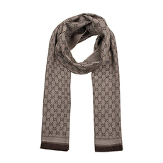 Gucci GG Jacquard Scarf Beige/Brown