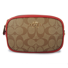 Coach Coated Canvas Convertible Belt Bag Brown/Red