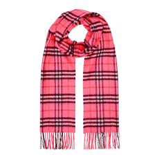 Burberry Classic Vintage Check cashmere Scarf Bright Pink