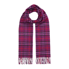 Burberry Classic Vintage Check cashmere Scarf Dark Violet