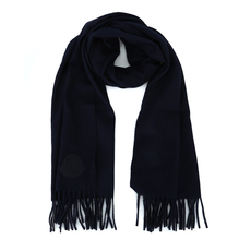 Moncler fringed wool Scarf Blue