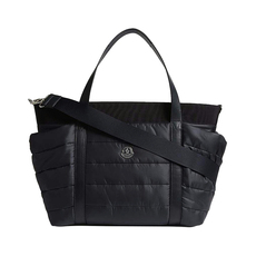 Moncler Kids Quilted Nylon Tote Bag Black