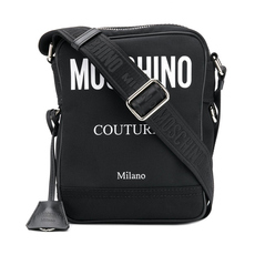 Moschino COUTURE Messenger Bag Black