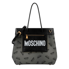 Moschino All Over Logo Tote Bag Black