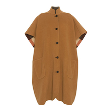 Burberry Reversible Check Oversized Cloak Camel