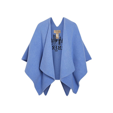 Burberry Embroidered Skyline Cloak Blue