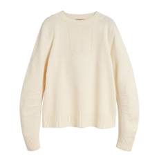 Burberry Anchor Intarsia Sweater White