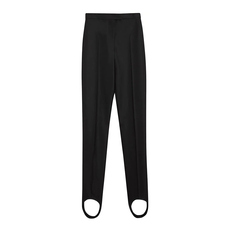 Burberry High-Waist Jodhpur Trousers Black/White
