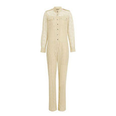 Burberry Floral Lace Jumpsuit Pale Yellow