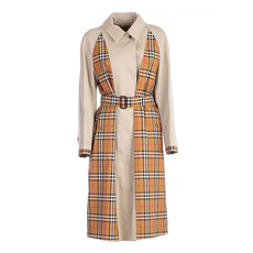 Burberry Vintage Check Trench Coat Stone