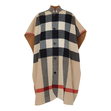 Burberry Reversible Check Cloak Camel