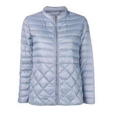 S Max Mara Quilted Puffer Down Jacket Light Blue