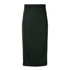 Fendi Ff Logo Band Fitted Skirt Black