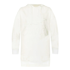 Fendi Sequinned Asymmetrical Hoodie White