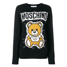 Moschino Safety Pin Teddy Sweater Black