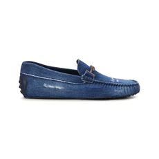 Tod'S Gommino Driving Men's Loafers Blue