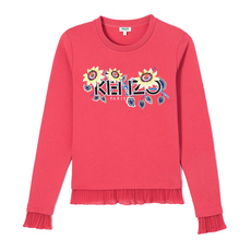 "Kenzo Paris ""Passion Flower"" Sweatshirt Coral"