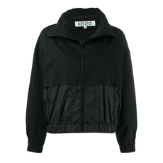 Kenzo Logo Dual Fabric Windbreaker Black