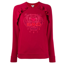 Kenzo Tiger Embroidered Sweatshirt Red