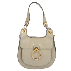 Chloe Tess Hobo Shoulder Bag Motty Grey