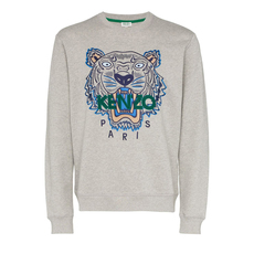 Kenzo Tiger Embroidered Sweatshirt Grey