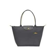 Longchamp Large Le Pliage Club Tote Bag Gun Metal