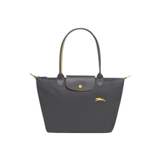 Longchamp Small Le Pliage Club Tote Bag Gun Metal