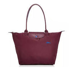 Longchamp Large Le Pliage Tote Bag Plum