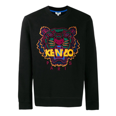 Kenzo Tiger Embroidered Sweatshirt Black