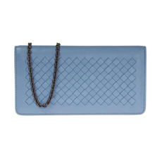 Bottega Veneta Chain Wallet Blue