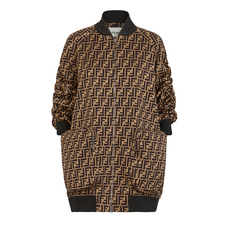 Fendi Ff Motif Oversized Jacket Brown