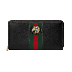 Gucci Rajah Zip Around Wallet Black