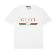 Gucci Oversized Washed T-Shirt White