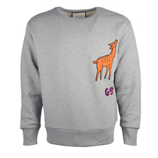Gucci Deer Patch Sweatshirt Grey