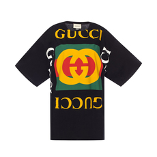Gucci Oversized With Logo T-Shirt Multicolor