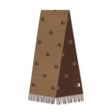 Gucci Double G Scarf Brown/Beige