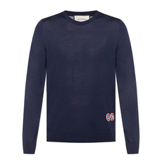 Gucci Crew Neck Pullovers Sweater Navy