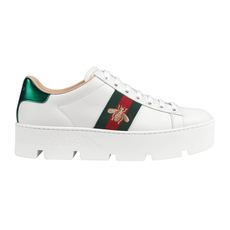 Gucci Ace Embroidered Platform Women's Sneakers Black